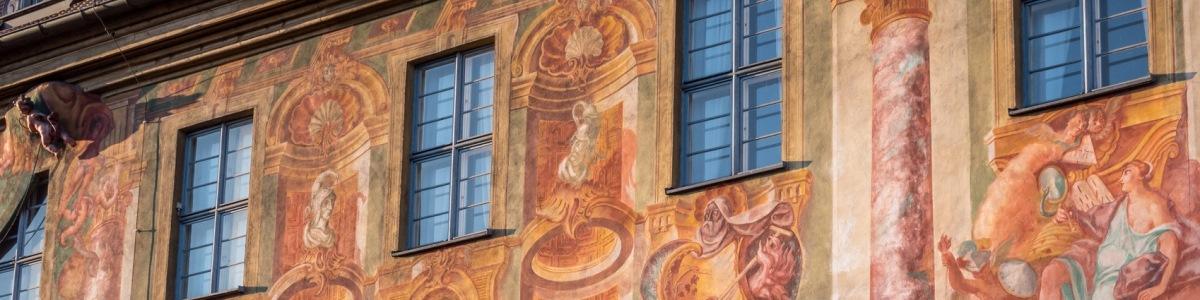 Fassade eine unter Denkmalschutz gestellten Gebäudes